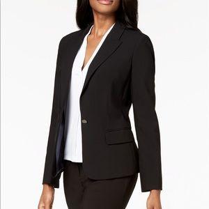 Calvin Klein black one-button blazer